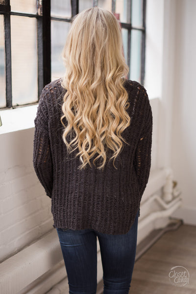LUSH Little Crush Sweater - Chocolate