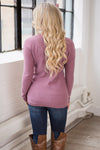 Bundle Me Up Surplice Sweater - Dusty Mauve