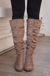 Looking Up Heeled Boots - Taupe