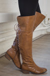 Night Owl Lace-Up Rider Boots - Tan