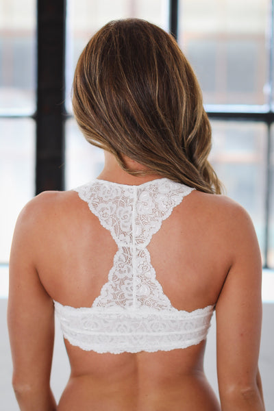 Simply Adorned Racerback Lace Bralettes