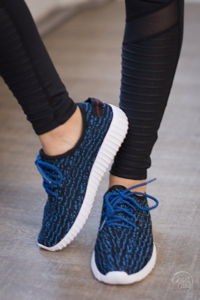 Run Around Town Sneakers - Blue & Black