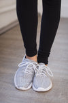 Run Around Town Sneakers - Grey & White