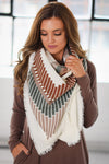 Find Your Tribe Blanket Scarf - women's multicolor printed scarf, Closet Candy Boutique 1
