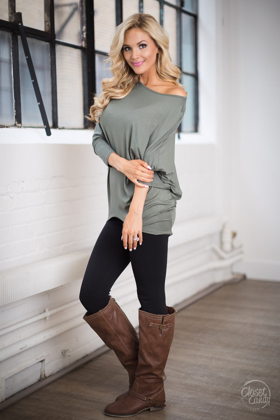 Keep It Cute Dolman Tunic Tops