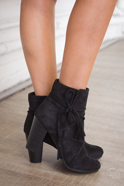 Outside the Lines Booties - Black