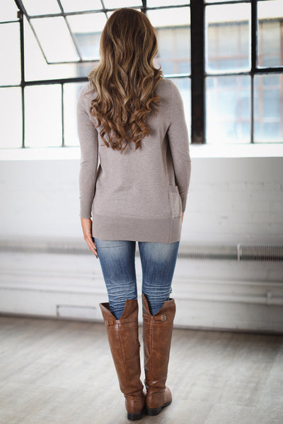 The Nearness of You Cardigan - Taupe