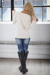 Follow Your Heart Sweater - Ivory trendy women's knit sweater with heart on front, Closet Candy Boutique 3