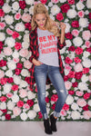 """Be My Freaking Valentine"" Top - Grey"
