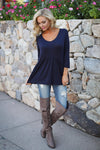Taking Chances Top - Navy