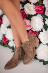 Way To You Cutout Booties - Taupe
