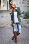 The Nearness of You Cardigan - cute olive cardigan, fall style, front, Closet Candy Boutique 3