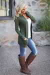 The Nearness of You Cardigan - cute olive cardigan, fall style, Closet Candy Boutique 1