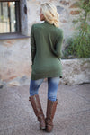 The Nearness of You Cardigan - cute olive cardigan, fall style, back, Closet Candy Boutique 5