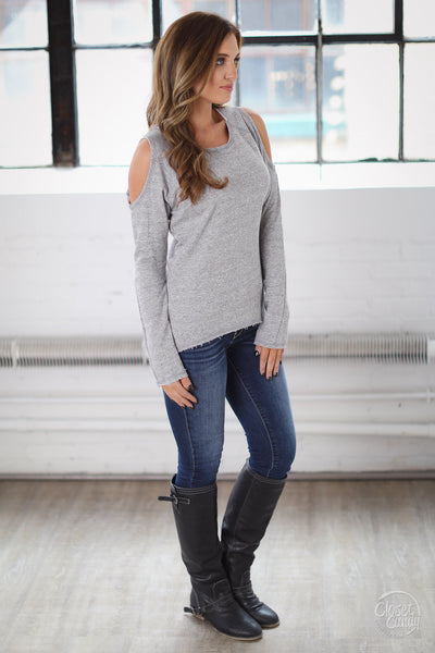 ELAN No Better Feeling Sweater - Grey