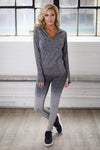 No Excuses Quarter Zip Top - charcoal long sleeve athletic top, outfit, Closet Candy Boutique