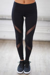 My Best Version Athletic Leggings - black mesh workout leggings, front, Closet Candy Boutique 7