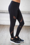 My Best Version Athletic Leggings - black mesh workout leggings, side, Closet Candy Boutique 6