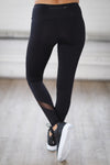My Best Version Athletic Leggings - black mesh workout leggings, back, Closet Candy Boutique 5