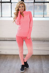 Quarter Zip Athletic Top - Neon Coral