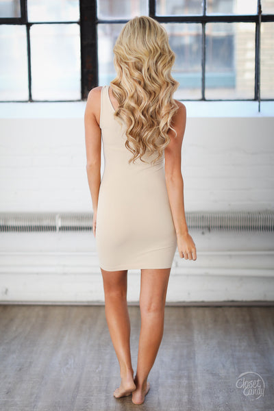Long Seamless Tank Dress - Thick Straps