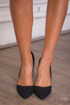 Suede D'Orsay Pumps - Black