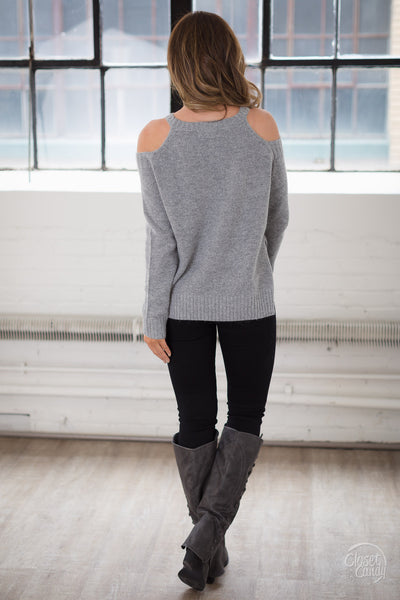 ELAN Frozen In Time Sweater - Grey