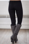 All For You Skinny Jeans - black stretchy skinny jeans, back, Closet Candy Boutique