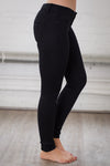 All For You Skinny Jeans - black stretchy skinny jeans, side, Closet Candy Boutique