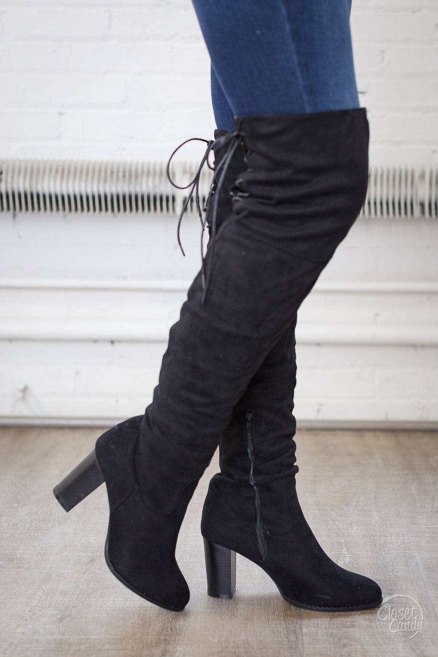 Follow My Lead Over-the-Knee Boots - Black