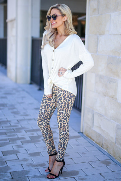 Frisky Business Leopard Leggings women's animal print leggings, Closet Candy Boutique 5
