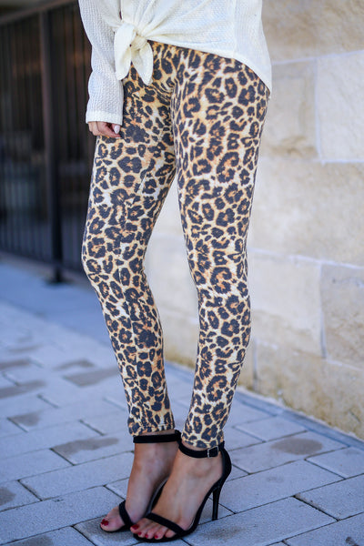 Frisky Business Leopard Leggings women's animal print leggings, Closet Candy Boutique 2