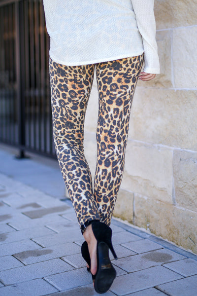 Frisky Business Leopard Leggings women's animal print leggings, Closet Candy Boutique 3