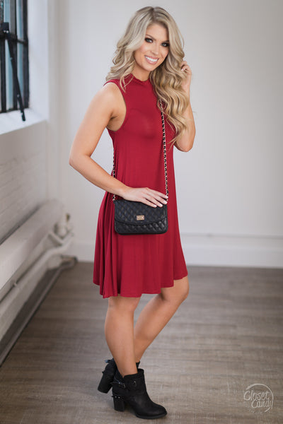 EVERLY Just Dance Swing Dress - Red
