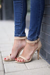 Love Sick Heels - nude strappy ankle strap heels, Closet Candy Boutique 1