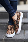 Like No Other Sneakers - Leopard print slip on sneakers, front, Closet Candy Boutique
