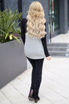 You Have My Heart Top - Black & Heather Grey long sleeve top, back, Closet Candy Boutique