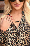 MEGHAN BO DESIGNS Evelyn Bar Necklace - Black & gold women's jewelry, Closet Candy Boutique 1