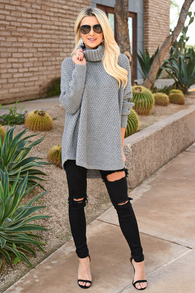 Let's Make S'mores Sweater - Grey cute turtleneck sweater, Closet Candy Boutique 5