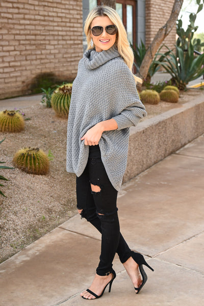Let's Make S'mores Sweater - Grey cute turtleneck sweater, Closet Candy Boutique 4