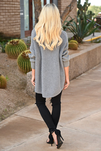 Let's Make S'mores Sweater - Grey cute turtleneck sweater, Closet Candy Boutique 3