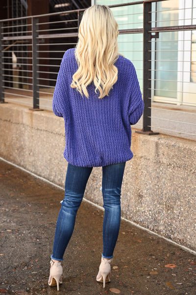 Brighter Days Sweater - Iris women's off the shoulder knit sweater, Closet Candy Boutique 4