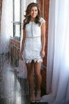 Crushing On You Dress - White crochet lace dress, valentine's day outfit, Closet Candy Boutique 1