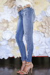 KAN CAN Got It All Distressed Jeans - Light Wash skinny jeans, Closet Candy Boutique 4