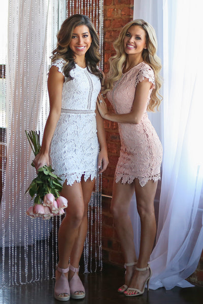 Crushing On You Dress - White crochet lace dress, valentine's day outfit, Closet Candy Boutique 2