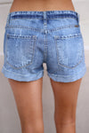 Beach Bum Denim Shorts - Medium Wash distressed denim shorts, Closet Candy Boutique 3