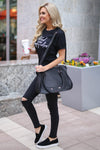 "CCB ""Black Is My Happy Color"" T-Shirt - black short sleeve tee, side, Closet Candy Boutique"