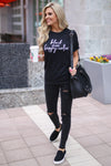 "CCB ""Black Is My Happy Color"" T-Shirt - black short sleeve tee, front, Closet Candy Boutique"