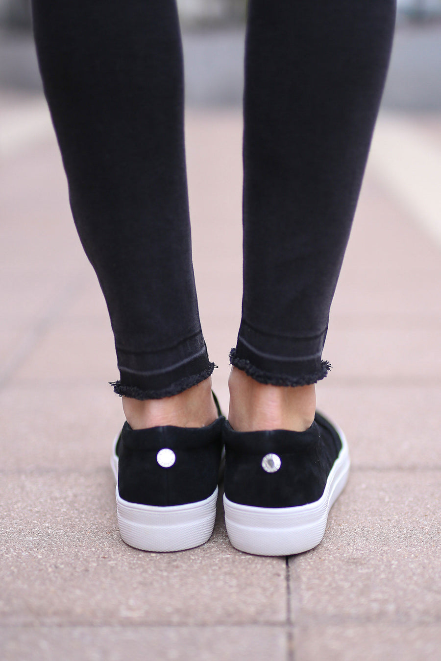 STEVE MADDEN Chris's Favorite Sneakers - black slip on sneakers, Closet Candy Boutique 1