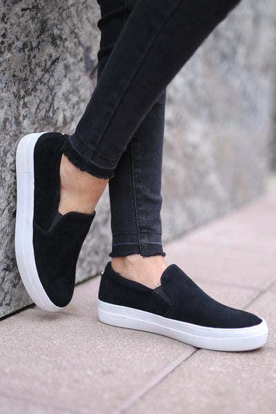 STEVE MADDEN Chris's Favorite Sneakers - black slip on sneakers, Closet Candy Boutique 3